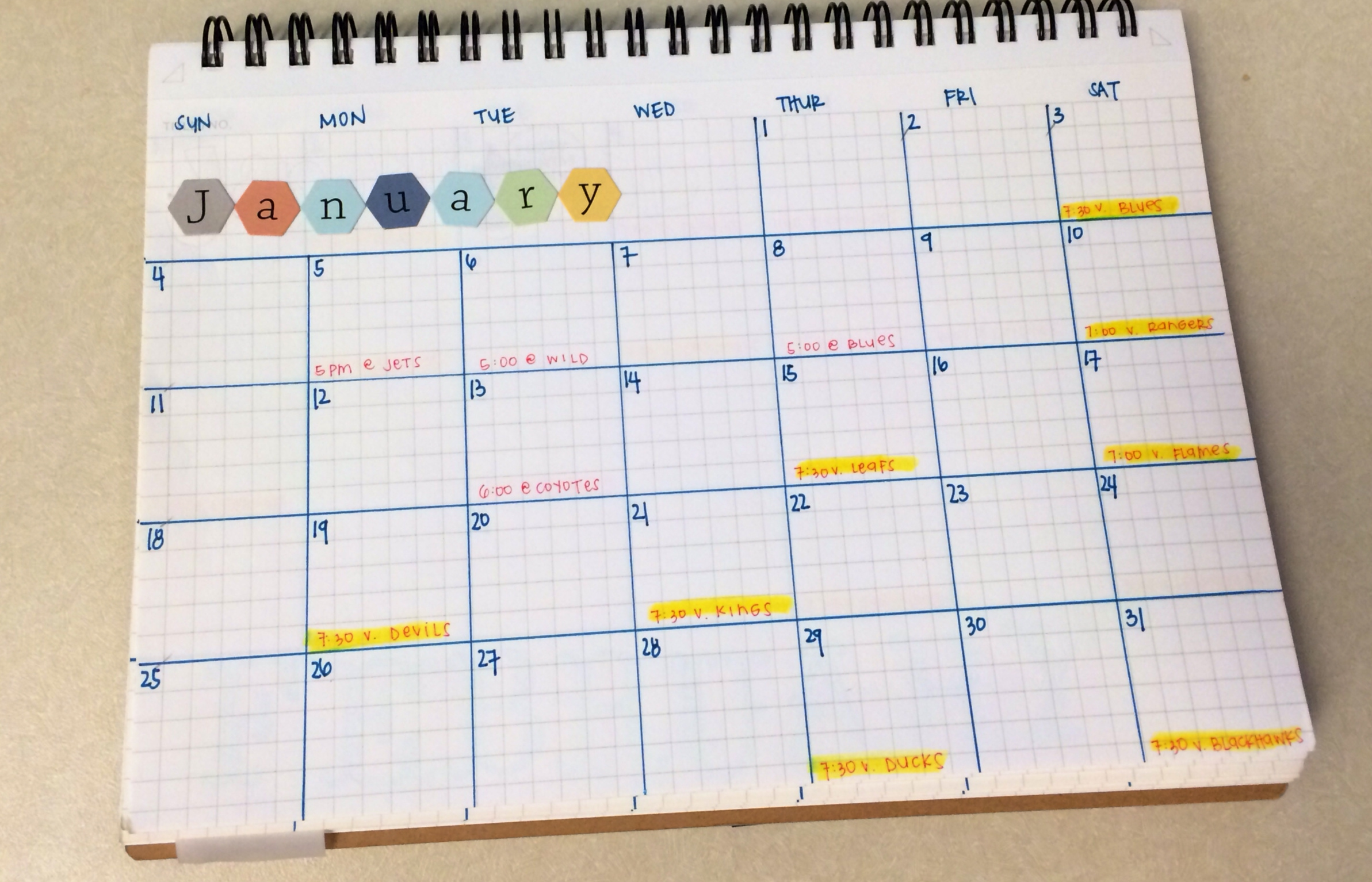 Diy Weekly Calendar : Diy calendar notebook trouvaille studios