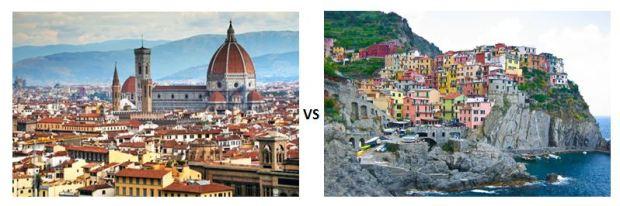 Florence v. Cinque Terre